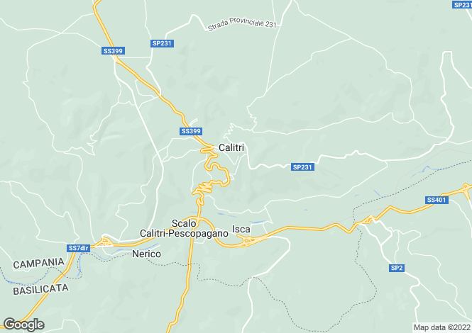Map for Calitri, Avellino, Campania