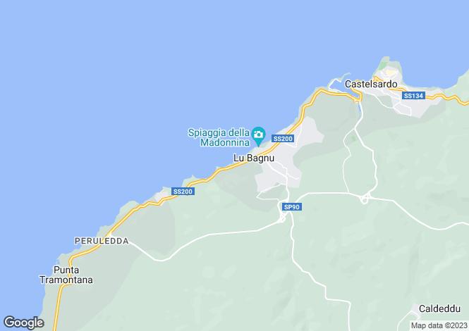 Map for Sardinia, Sassari, Castelsardo