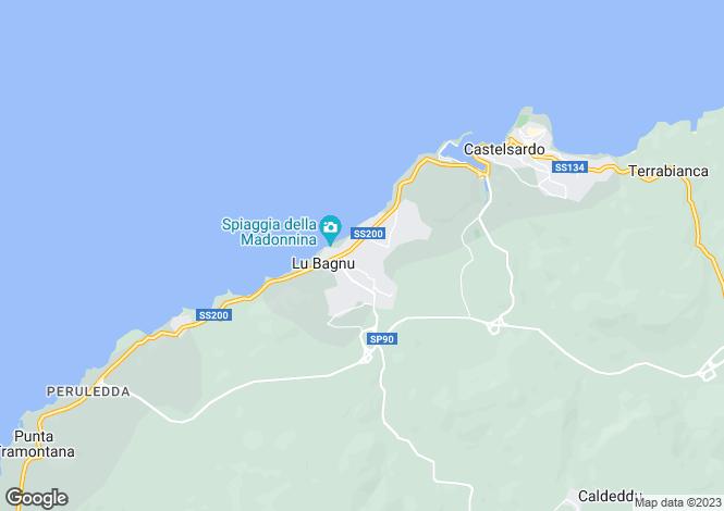 Map for Castelsardo, Sassari, Sardinia