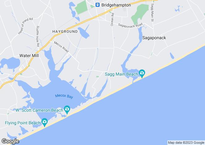 Map for New York, Suffolk County, Bridgehampton