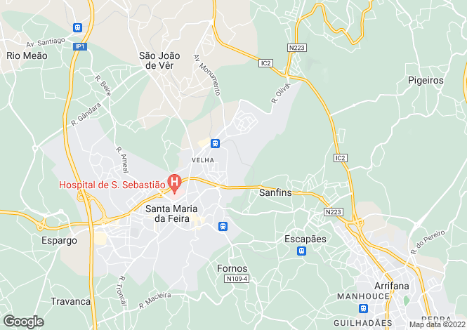 Map for Aveiro, Santa Maria da Feira