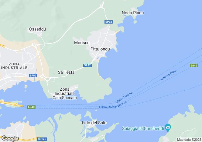 Map for Olbia, Olbia Tempio, Italy