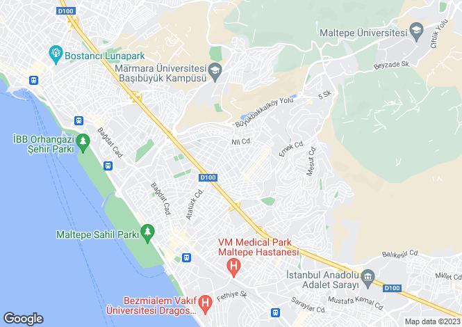 Map for Maltepe, Istanbul