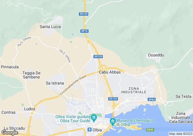 Map for Sardinia, Olbia-tempio, Olbia