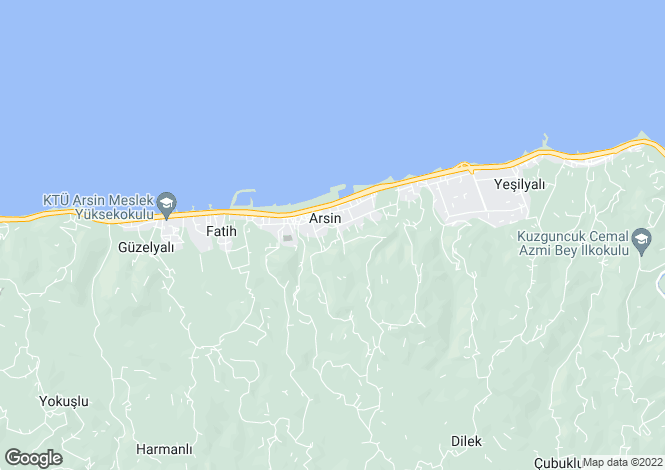 Map for Arsin, Trabzon