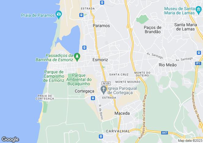 Map for Esmoriz, Ovar, Aveiro