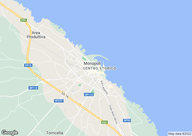 Map for Monopoli, Bari, Apulia