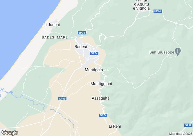 Map for Sardinia, Olbia-tempio, Badesi