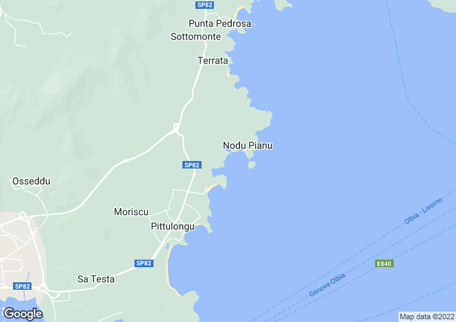 Map for Olbia, Olbia Tempio, Italy