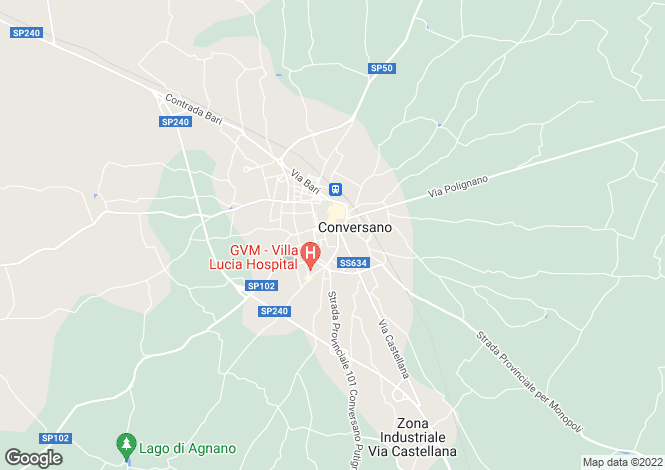 Map for Conversano, Bari, Apulia