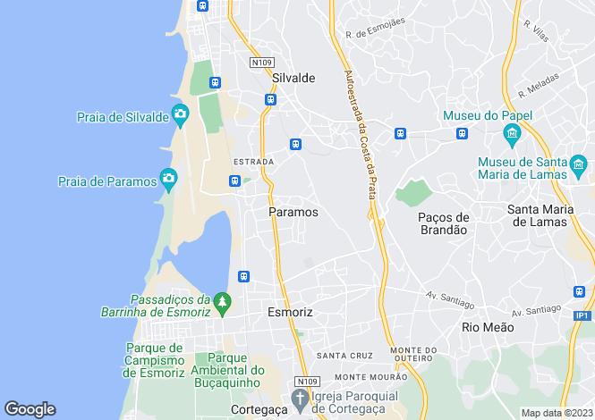 Map for Paramos, Espinho, Aveiro