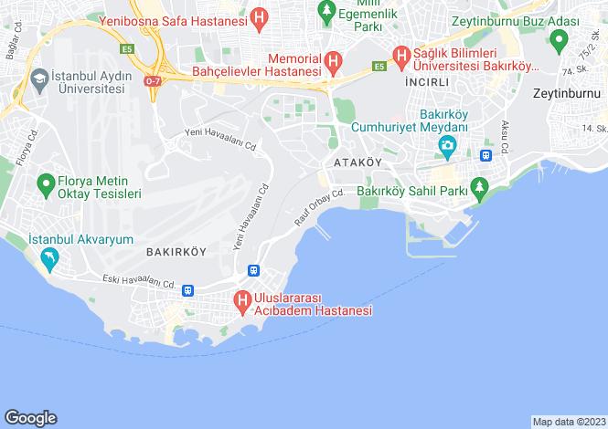 Map for Istanbul, Bakirköy, Bakirköy
