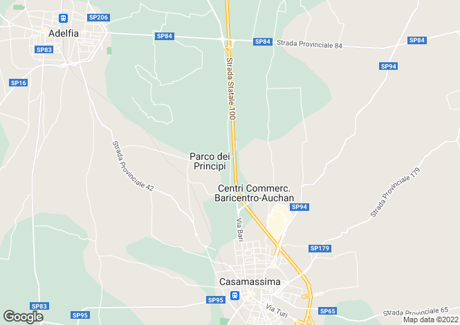 Map for Apulia, Bari, Casamassima