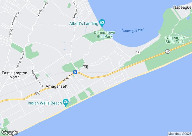 Map for New York, Suffolk County, Amagansett