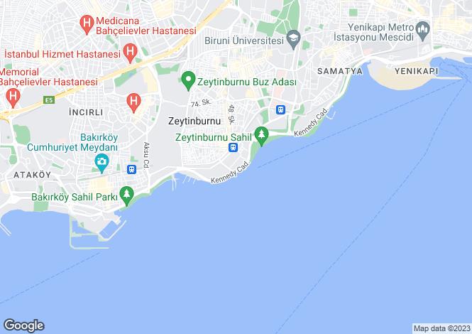 Map for Zeytinburnu, Zeytinburnu, Istanbul