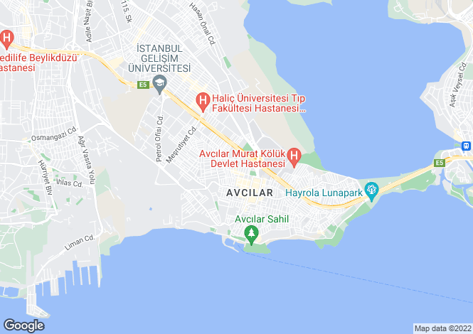 Map for Istanbul, Avcilar