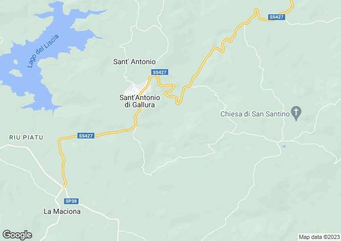 Map for Sant`Antonio di Gallura, Sassari, Sardinia