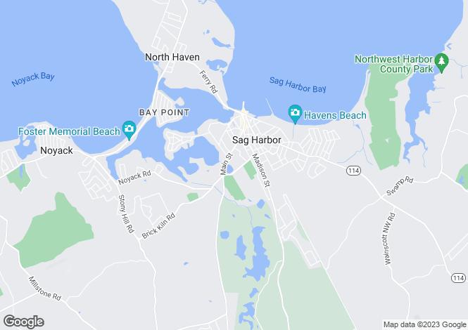 Map for USA - New York, Sag Harbor