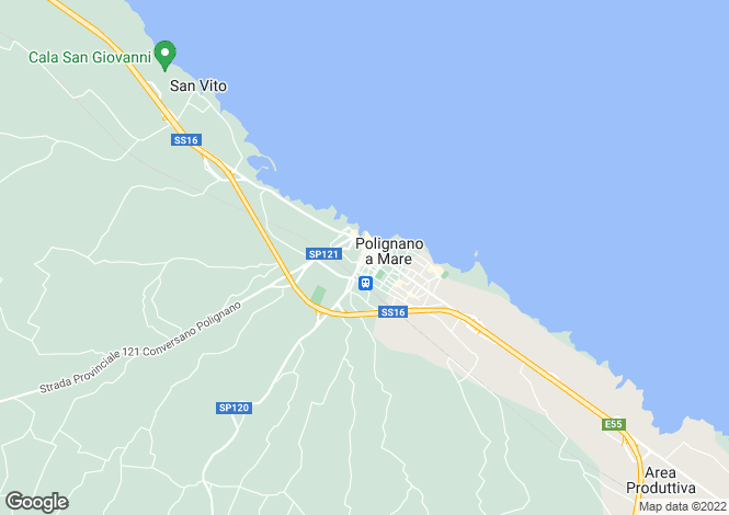 Map for Apulia, Bari, Polignano a Mare