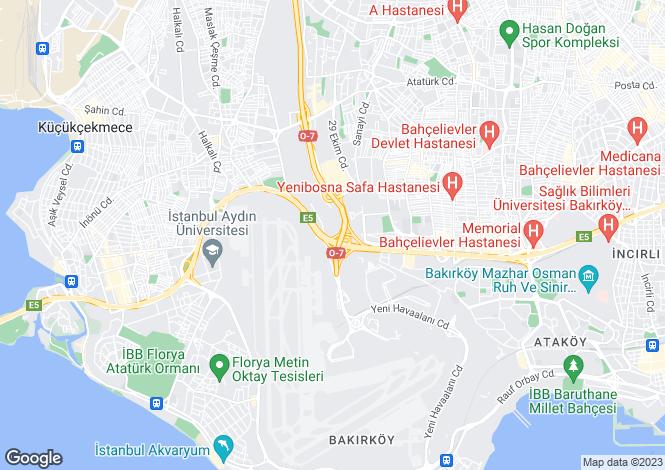 Map for Bakirköy, Bakirköy, Istanbul