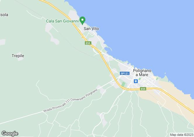Map for Polignano a Mare, Bari, Apulia