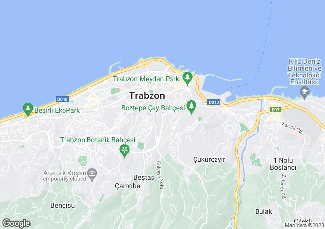 Map for Çukurçayir, Trabzon