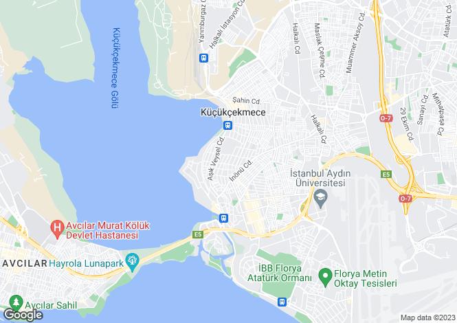 Map for Küçükçekmece, Küçükçekmece, Istanbul