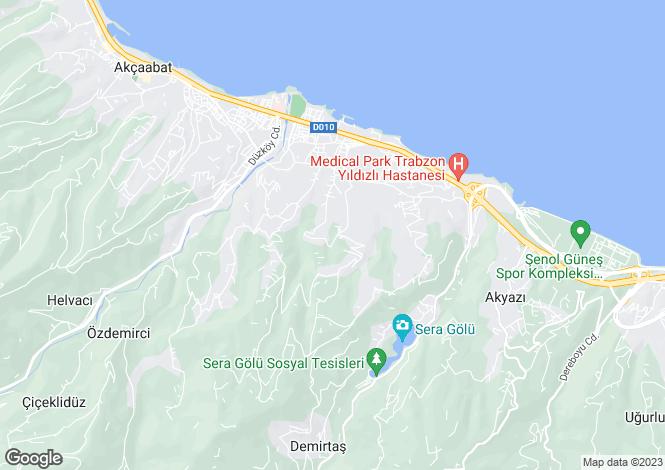 Map for Trabzon, Sögütlü