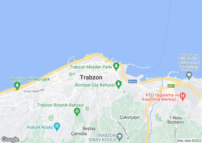 Map for Trabzon, Trabzon