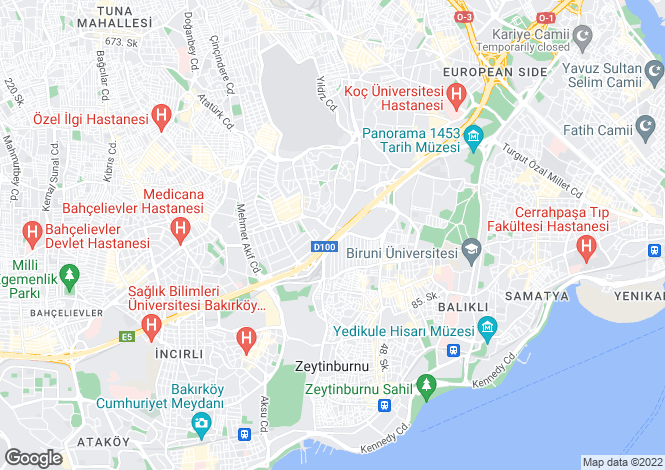 Map for Merter, Istanbul