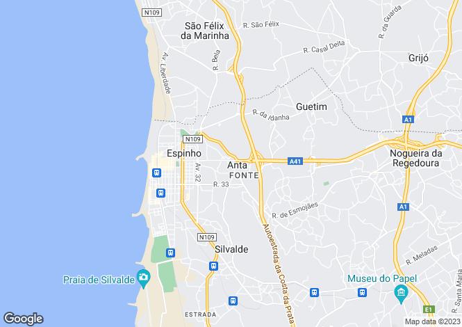 Map for Aveiro, Espinho