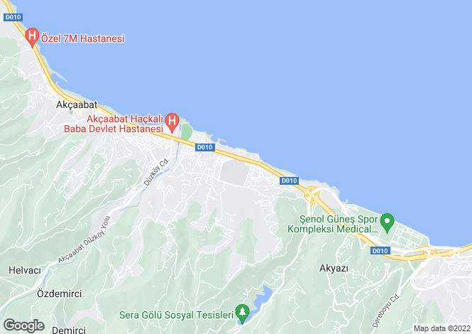 Map for Akçaabat, Trabzon