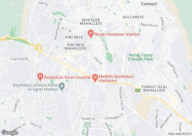 Map for Istanbul, Büyükçekmece, Esenyurt