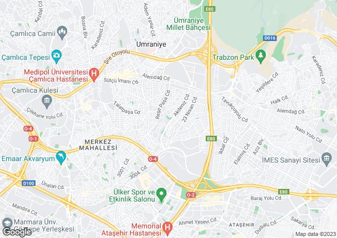 Map for Ümraniye, Ümraniye, Istanbul
