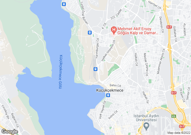 Map for Halkali, Istanbul