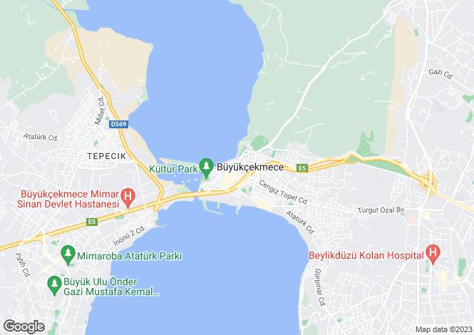 Map for Istanbul, Büyükçekmece, Büyükçekmece