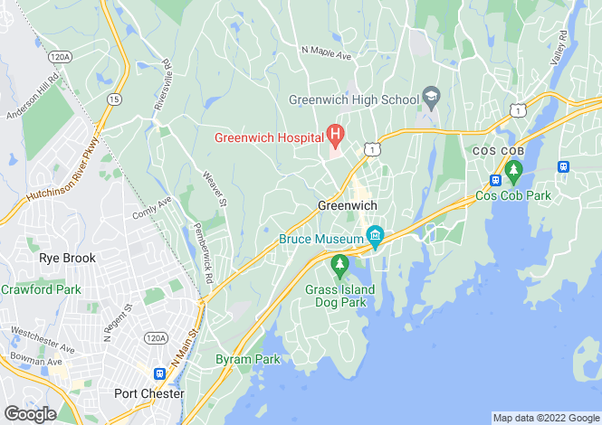 Map for Connecticut, Fairfield County, Greenwich