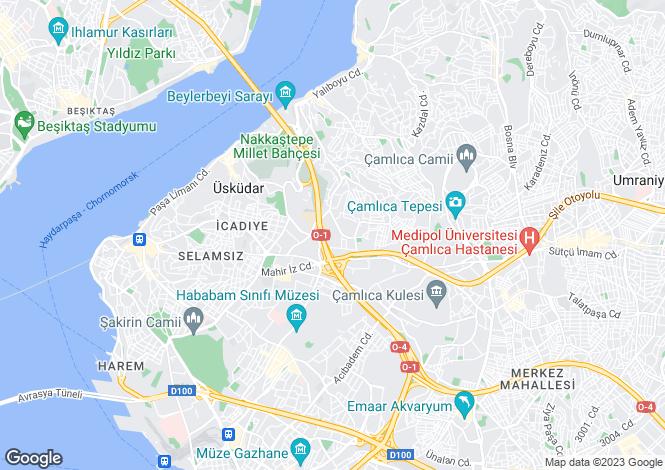 Map for Istanbul, Üsküdar, Üsküdar