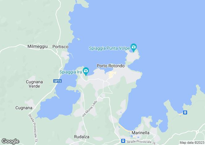 Map for Porto Rotondo, Sardegna, Italy