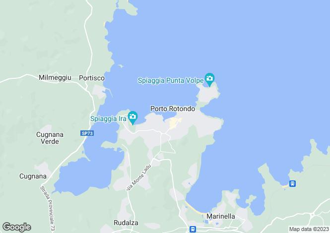Map for Porto Rotondo, Sassari, Sardinia
