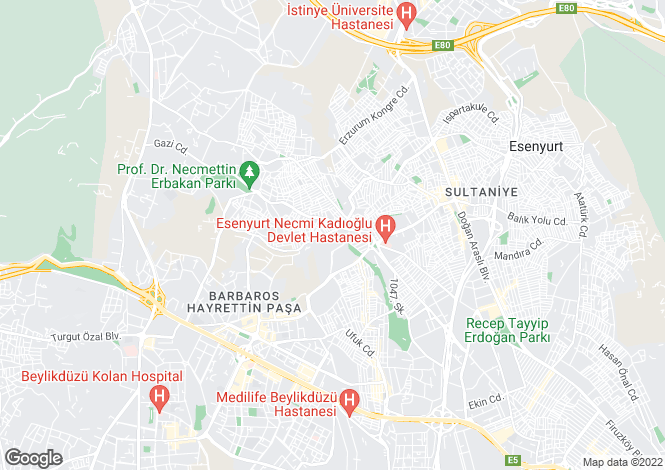 Map for Istanbul, Beylikduzu