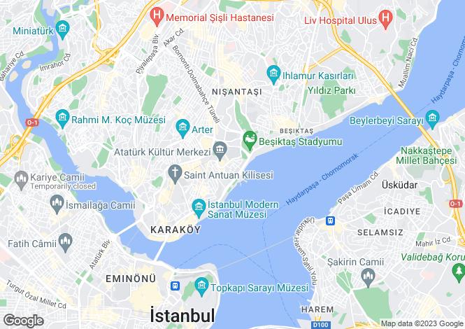 Map for Beyoglu, Istanbul