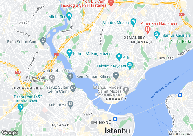 Map for Istanbul, Beyoglu