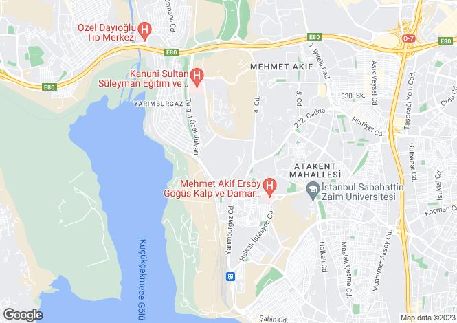 Map for Istanbul, Küçükçekmece, Küçükçekmece