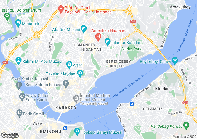 Map for Istanbul, Marmara,  Turkey