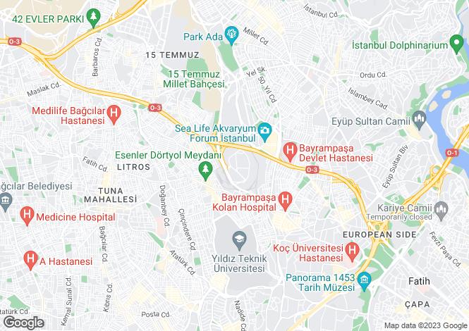 Map for Istanbul, Bayrampasa