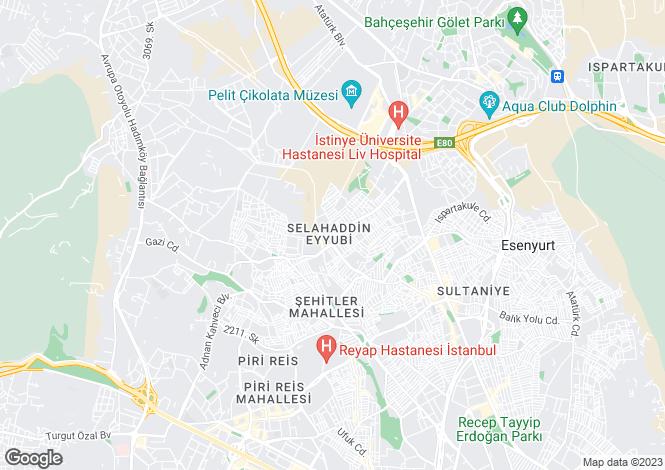 Map for Esenyurt, Büyükçekmece, Istanbul