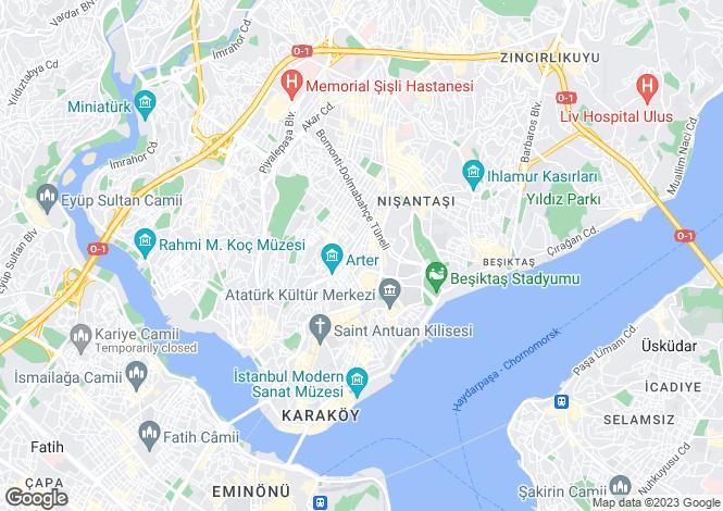 Map for Istanbul, Marmara,  Turkey