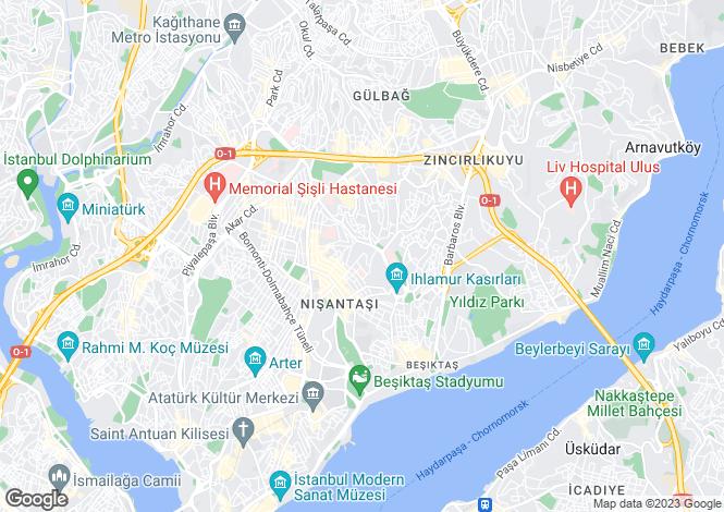 Map for Sisli, Sisli, Istanbul