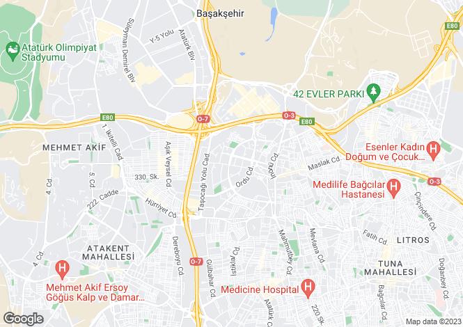 Map for Gunesli, Istanbul
